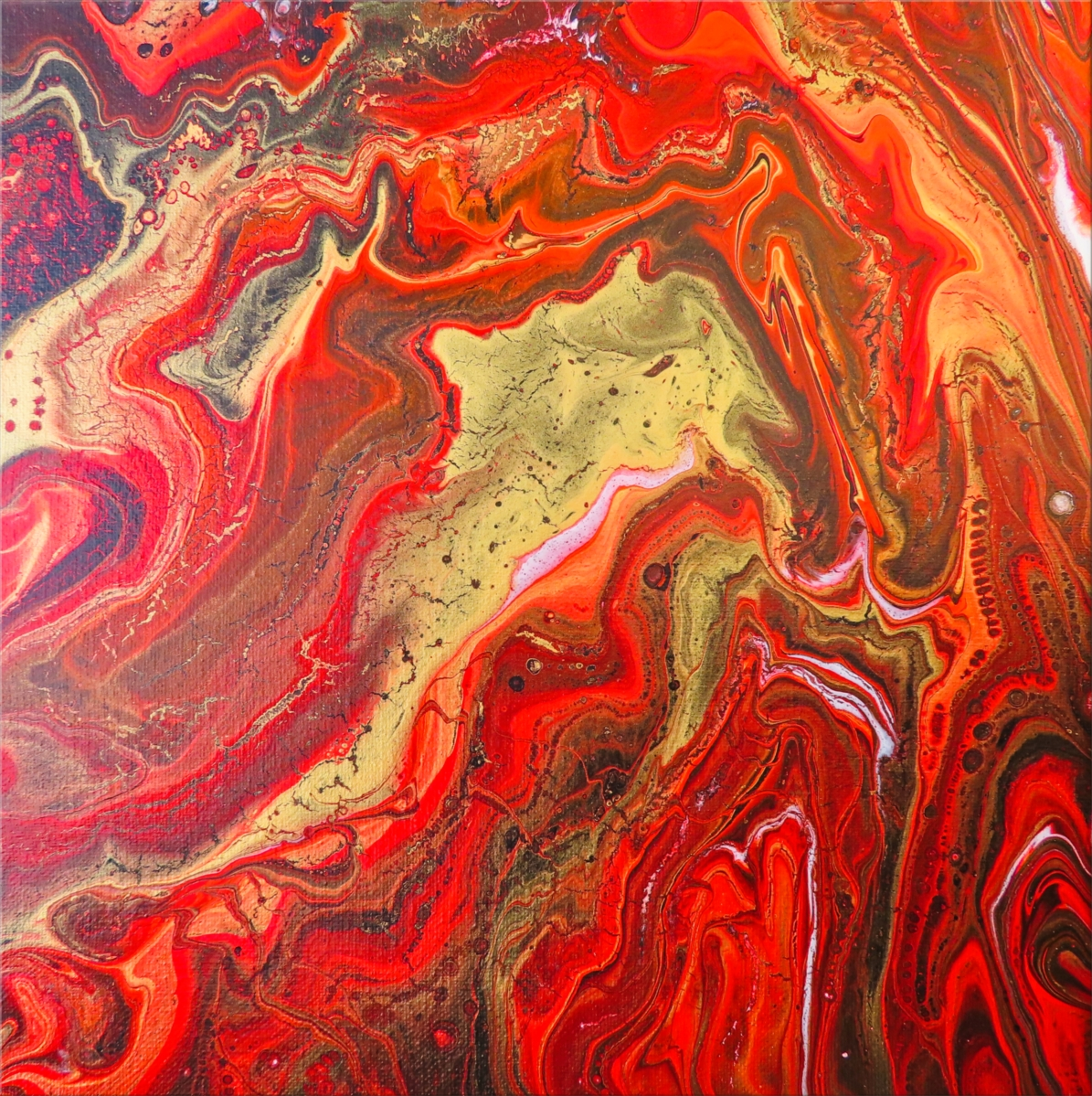 Red and Gold Abstract